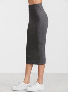 129b1eaa5 Cheap Heather Grey Elastic Waist Jersey Pencil Skirt for sale Australia |  SHEIN