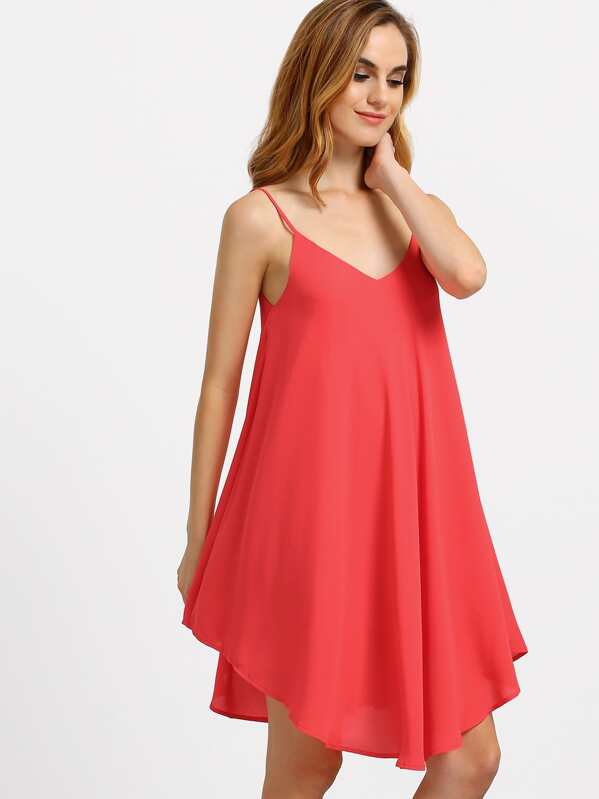 Spaghetti Strap Asymmetrical Dress