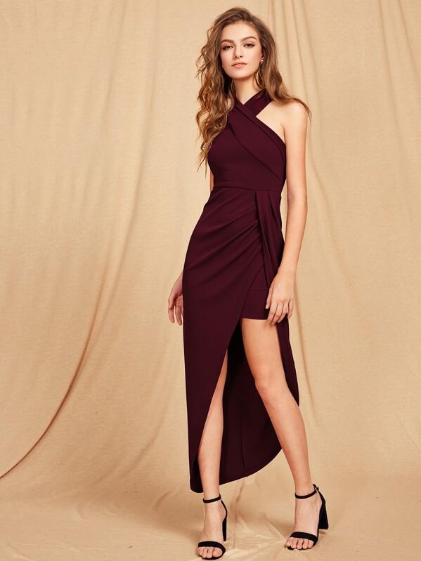 30b8951d6d Cheap Cross Halterneck Asymmetrical Maxi Dress for sale Australia ...
