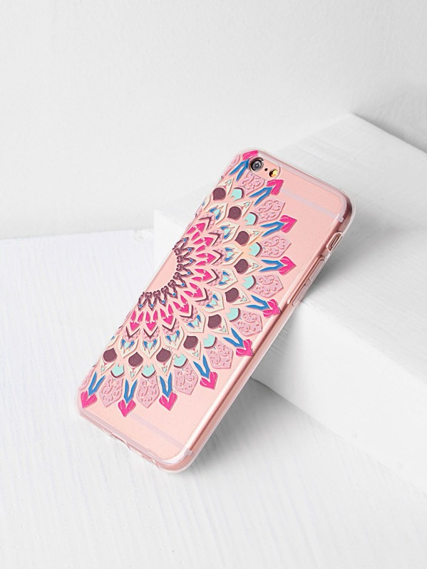 d0097a7327 Tribal Print Clear iPhone 6/6s Case -SheIn(Sheinside)