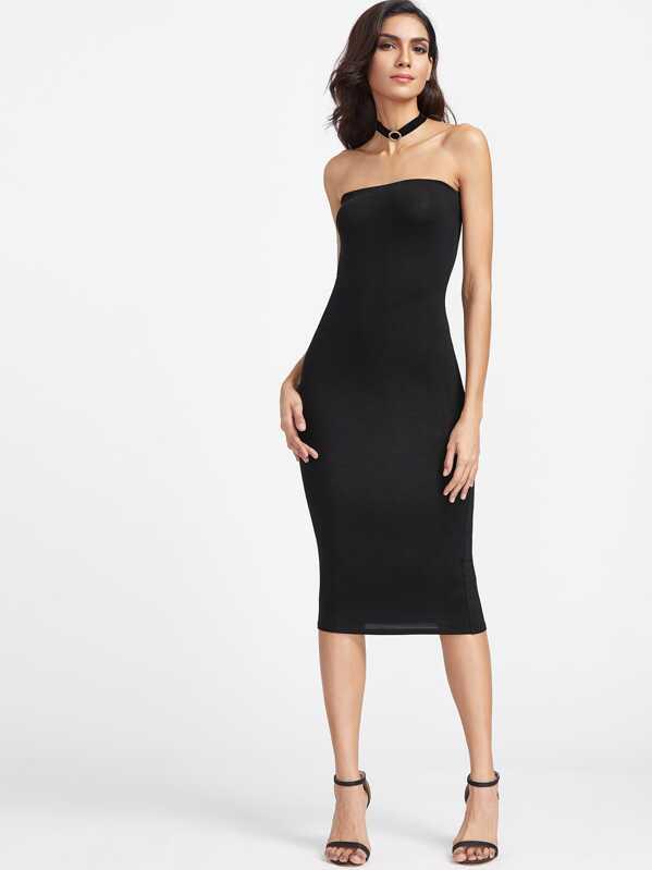 5ec837098a Bandeau Midi Bodycon Dress | SHEIN