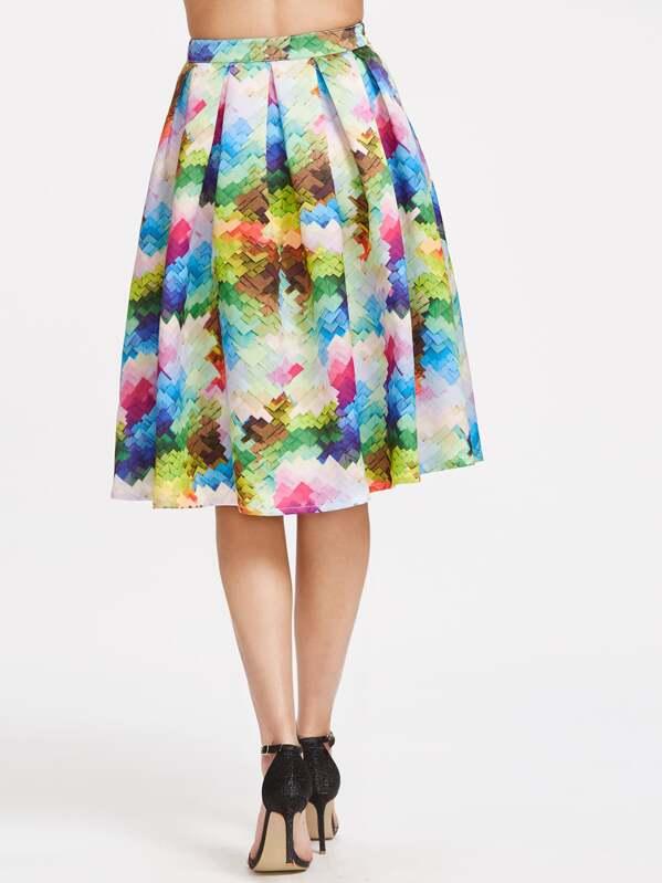 fe223ffa0 Cheap Graphic Printed Box Pleated Midi Skirt for sale Australia | SHEIN