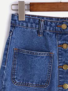 Jeans Fila Sul Shein Gonna Bottoni Una Di Con Italian Davanti aq151Ifw