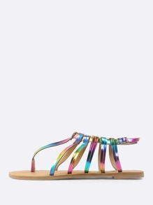 32981bc2f5f4 Colorful Caged Thong Sandal RAINBOW
