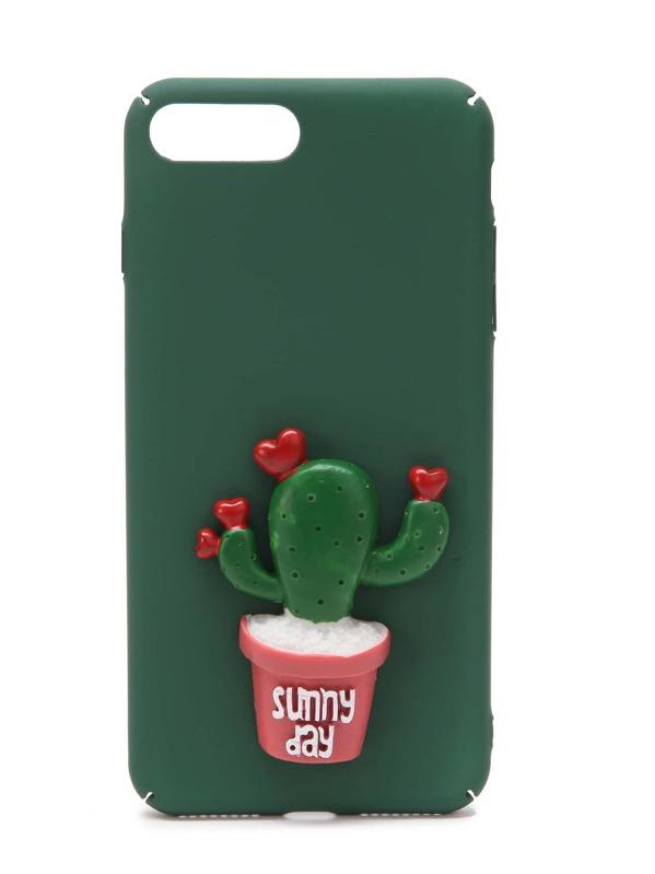 32a8d9878f4 Funda para iPhone 7 Plus con diseño de cactus | SHEIN ES