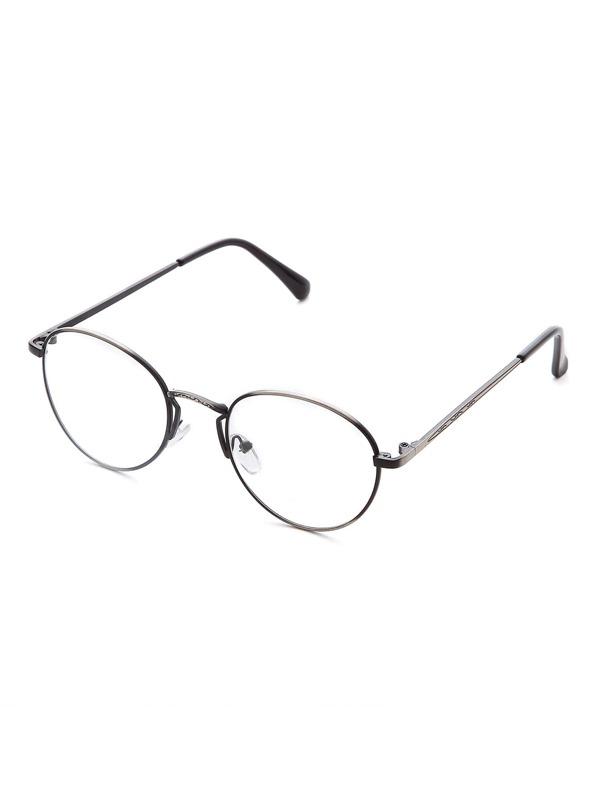 887944bc36 Sliver Frame Clear Lens Retro Glasses -SheIn(Sheinside)