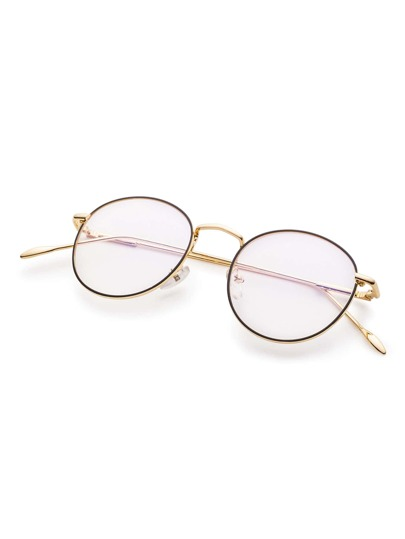 gold frame clear lens glasses sunglass170308303_1 sunglass170308303_1