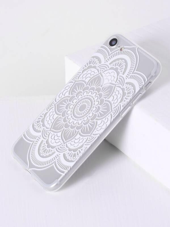 Cheap Lotus Flower Print Clear Iphone 7 Case For Sale Australia Shein