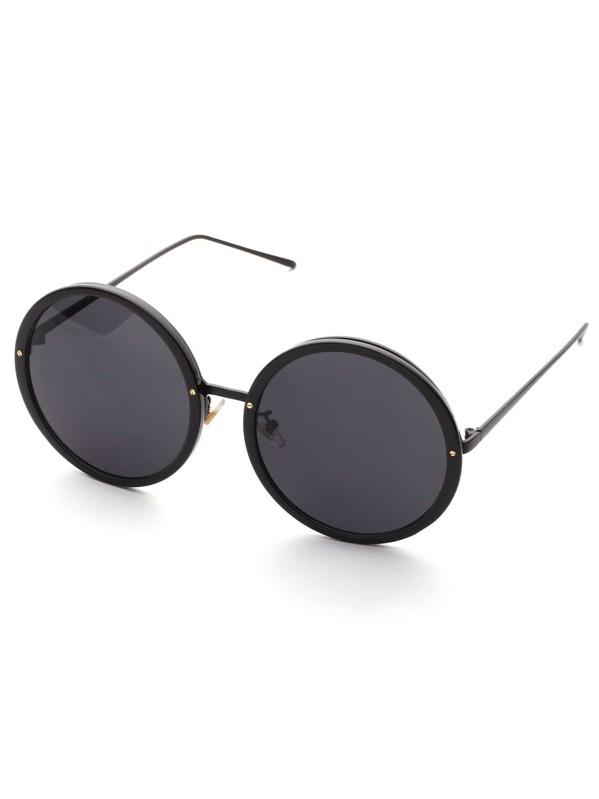 edefc7285 نظارة شمسية معدنية عدسة دائرية | شي إن