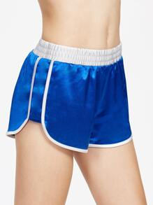Contrast Binding And Waist Silky Dolphin Shorts pictures