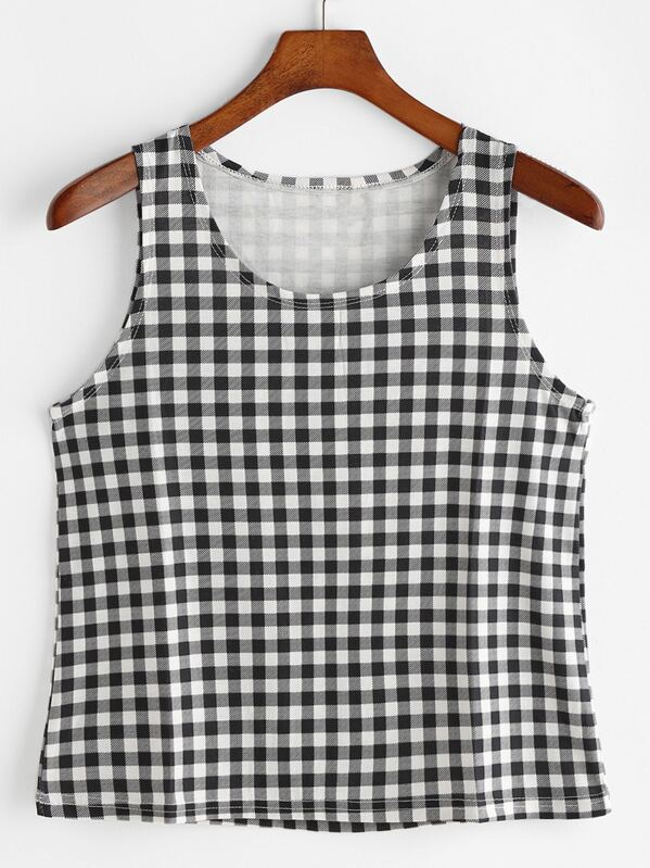 0c8dd2b0825f44 Cheap Gingham Plaid Crop Tank Top for sale Australia