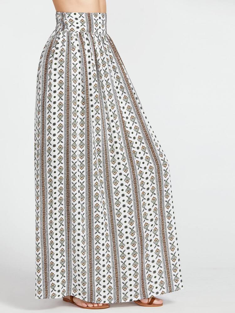 comprare popolare e24ea f51fd gonna lunga modellato con una cintura larga - multicolore