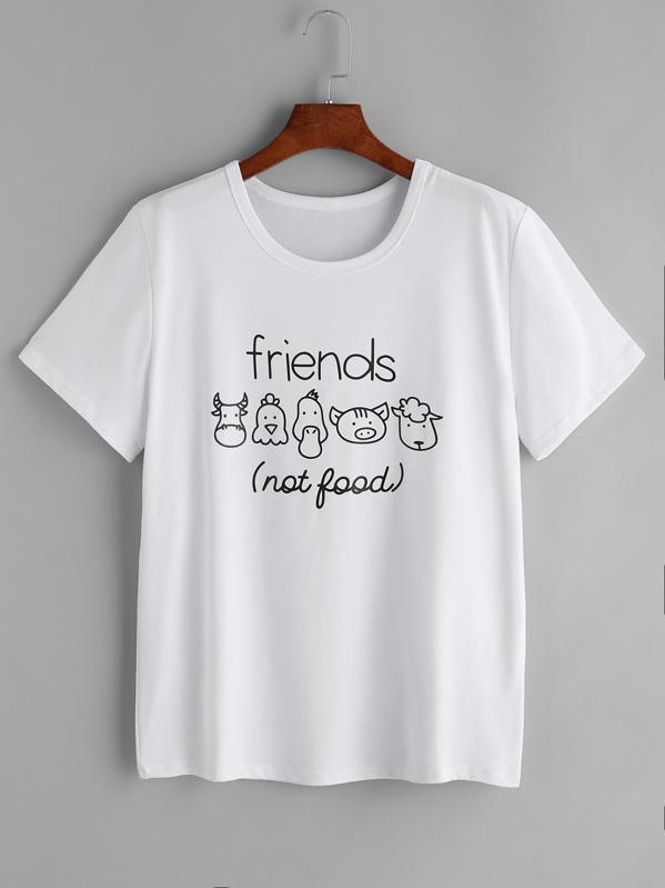Белая футболка с надписью Print  a9b7e33e93ea8