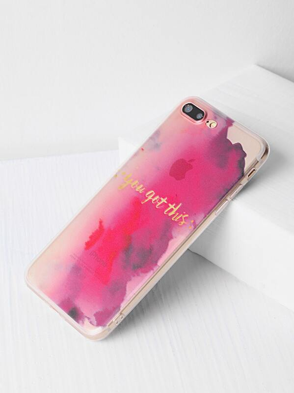 50f097fb94 Watercolor Pattern iPhone 7 Plus Case | SHEIN UK