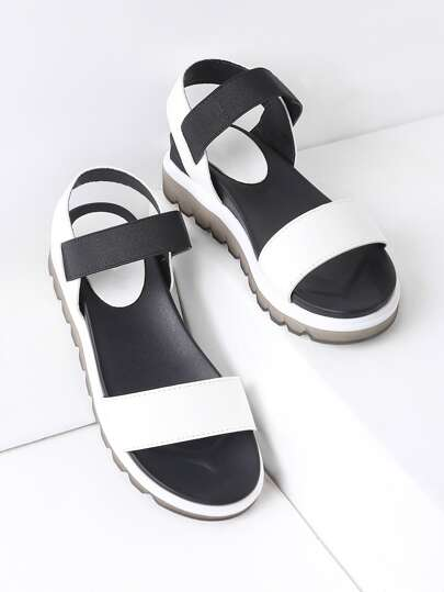 f4b369cf6970 Black And White Flatform Sandals. AddThis Sharing Buttons