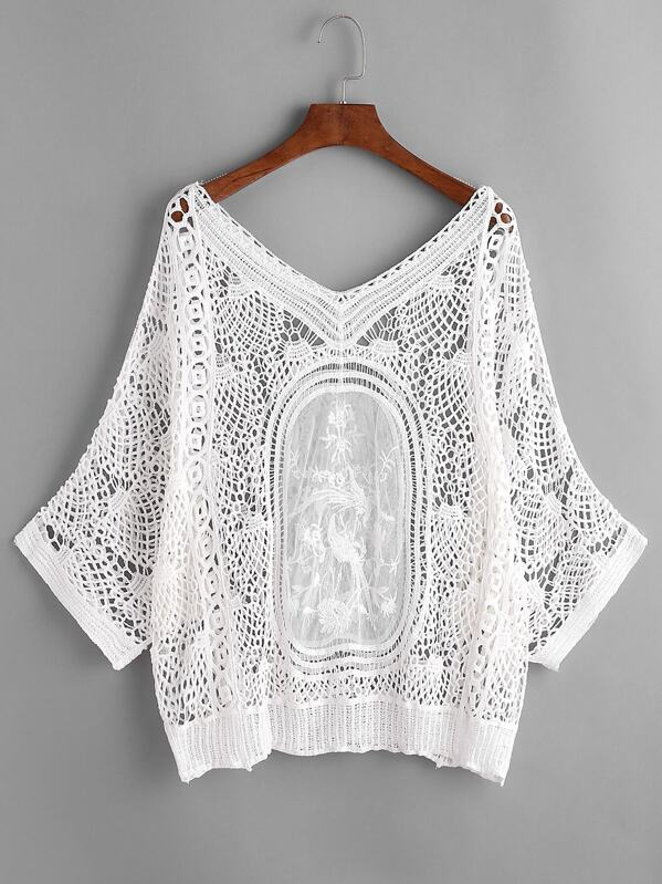 64670c8395 Crochet Lace Beach Cover Up. AddThis Sharing Buttons