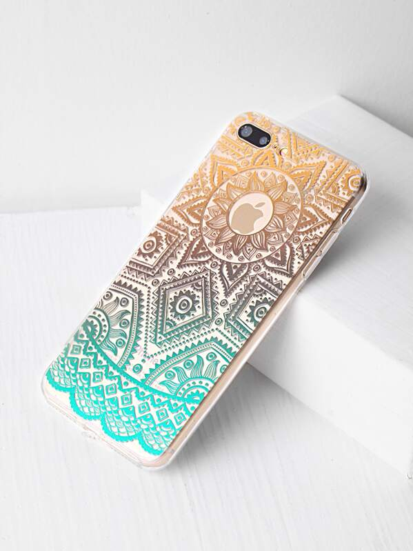 3e5f266c8f Ombre Tribal Pattern Clear iPhone 7 Plus Case -SheIn(Sheinside)