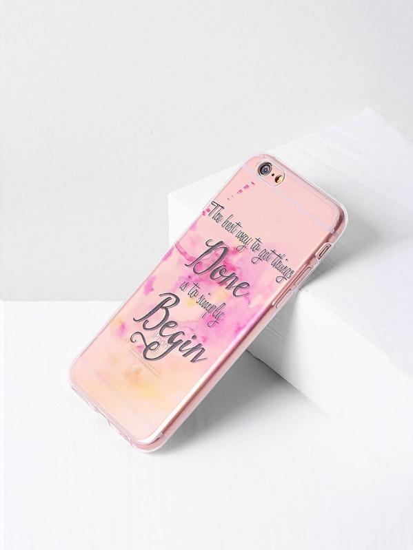 b32c6b5dc Caja clara del iPhone 6 / 6s de la letra | SHEIN ES