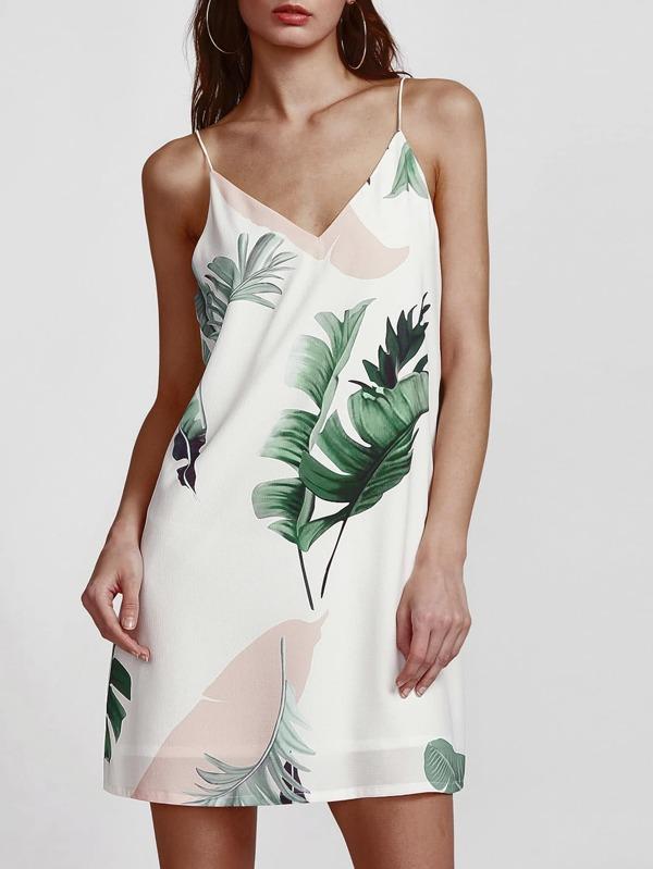 Платье-сарафан с летним принтом | SheIn