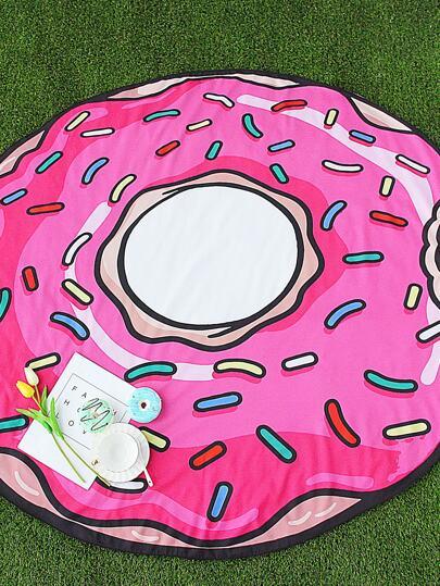 Doughnut Shape Cute Beach Blanket