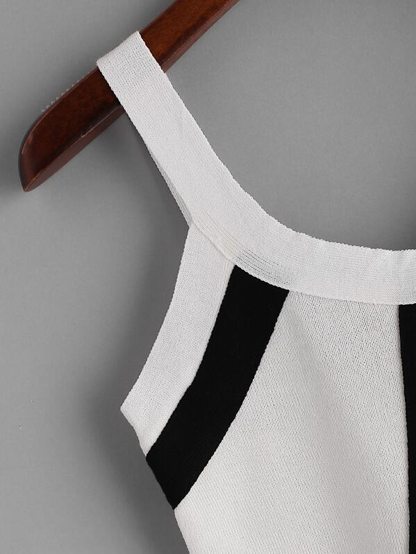 c3ada29ce2989 Striped Zipper Back Knit Crop Tank Top | SHEIN