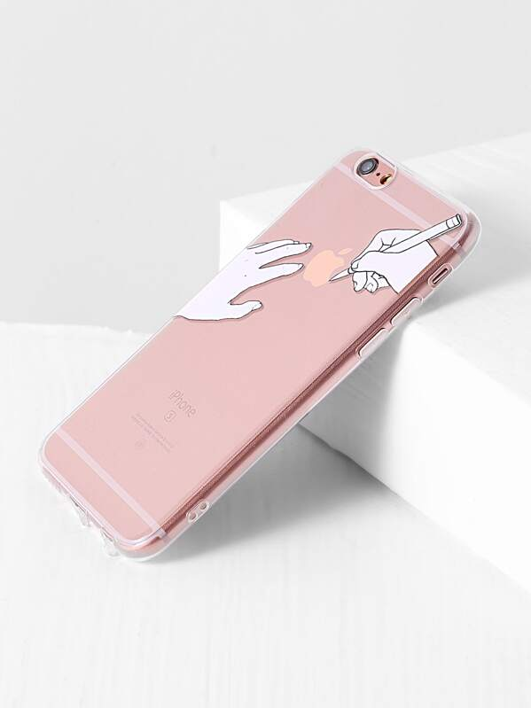 44ac148956 Hand Print iPhone 6/6S Case | SHEIN