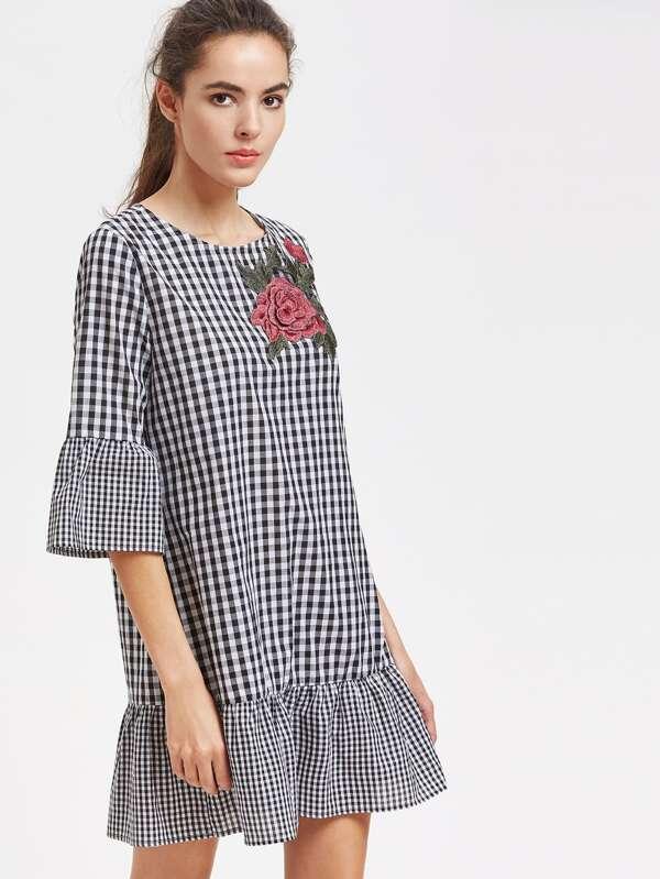 Anwendung geprüft Kleid mit rosa und Rüschen trim- German SheIn ...