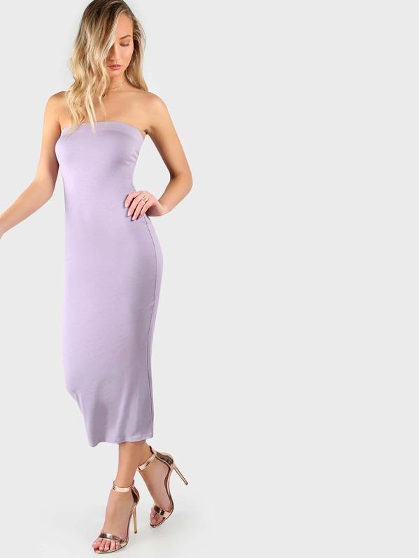 6872692b2e Jersey Knit Tube Dress LAVENDER