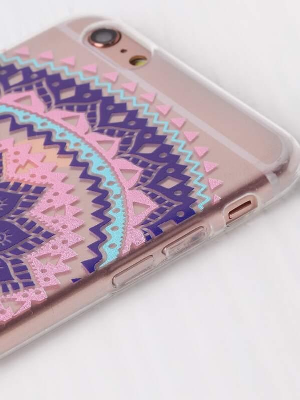 0ba16d5ddf Flower Print Clear iPhone 6 Plus/6s Plus Case | SHEIN