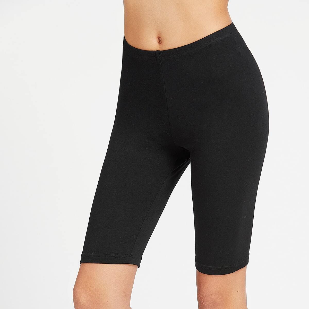 - Elastic Waist Short Leggings