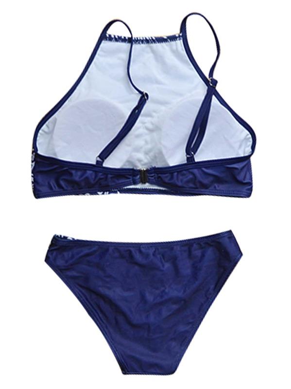 b468c7c61 Set bikini con estampado étnico - marino