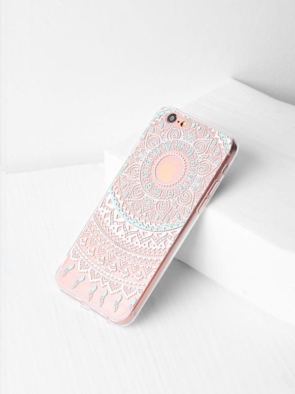 b1a57dd600 Flower Design Clear iPhone 6/6s Case | SHEIN UK