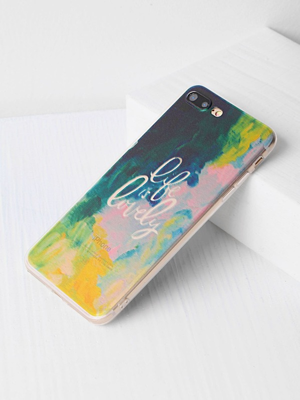 6b122acbb0 Watercolor And Letter Print iPhone 7 Plus Case | SHEIN