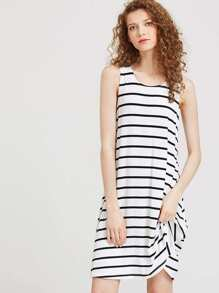 Striped Swing Tank Dress pictures