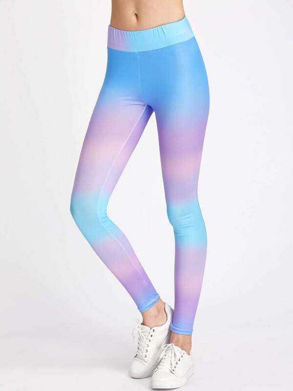 b1fc6afcdf534 Active Ombre Gym Leggings   SHEIN UK