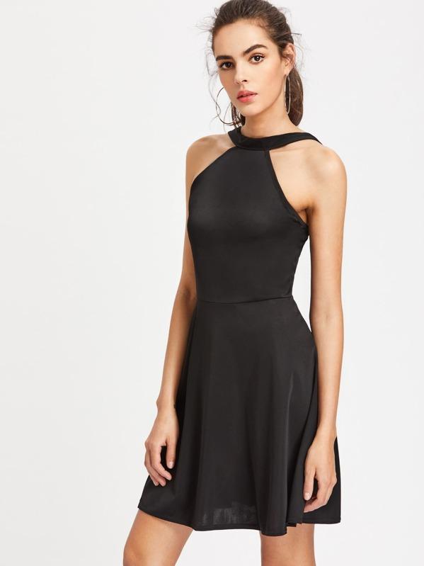 A HintenShein Reißverschluss Mit Linie Kleid 8Oy0mNwvn