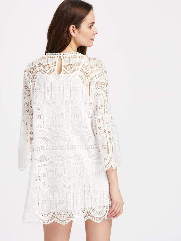 26c736f5f3 Cheap Bell Sleeve Scallop Edge Geo Crochet Dress for sale Australia ...