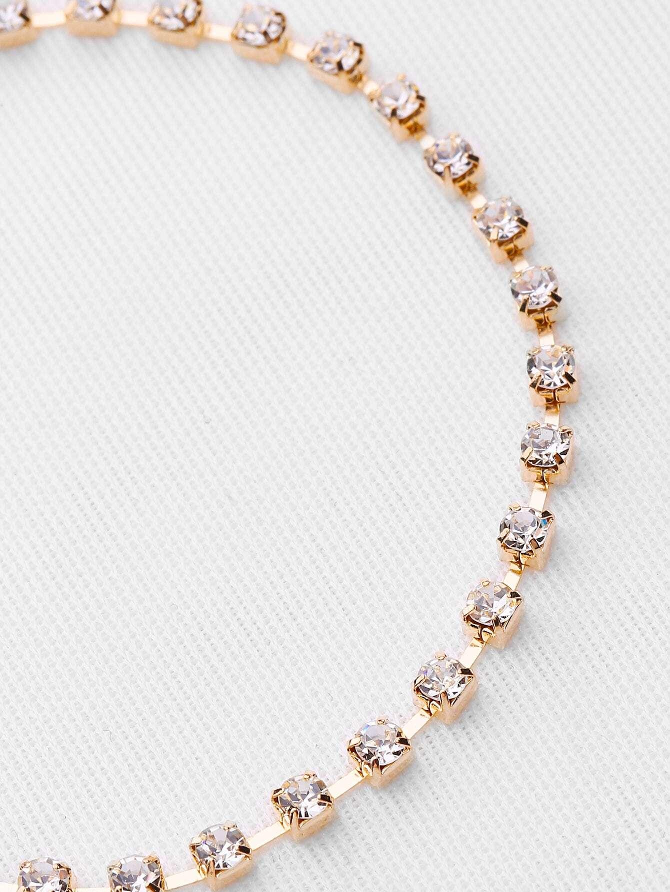 Rhinestone Decorated Delicate Bracelet -SheIn(Sheinside)
