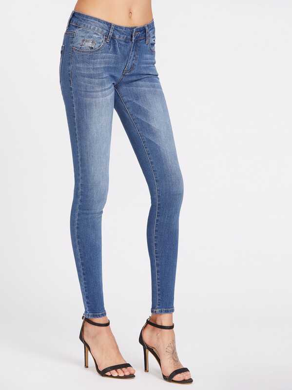 47fa167dad Low Rise Bleach Wash Skinny Jeans | SHEIN UK