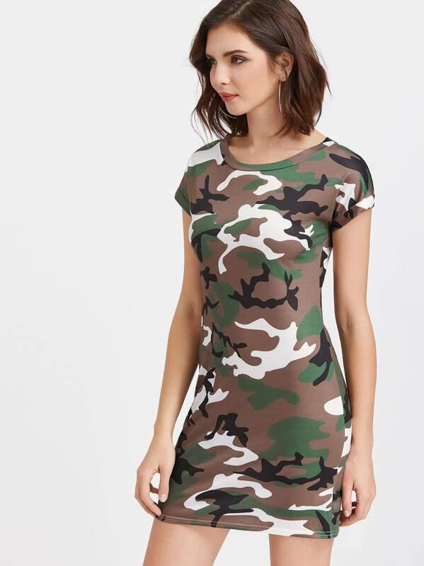 0d08f6687e3 Cheap Camouflage Print T-shirt Dress for sale Australia