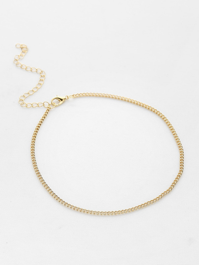c9c38e442b Metal Minimalist Chain Choker | SHEIN IN