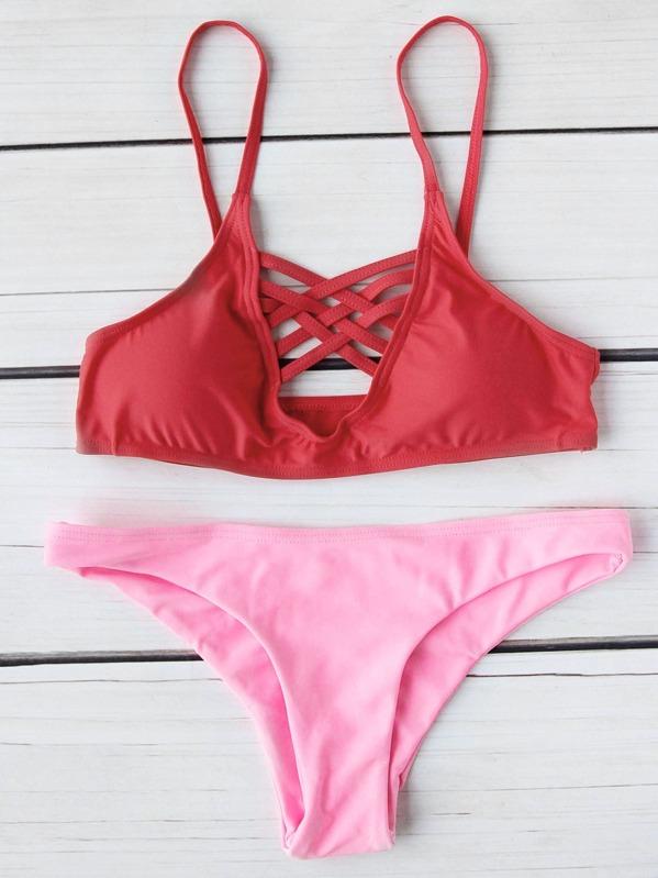 24d232bd09 Cheap Criss Cross Front Mix & Match Bikini Set for sale Australia ...