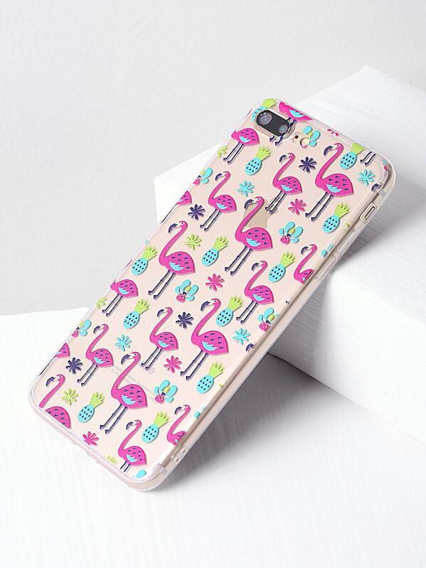 eced0271634 Funda para iPhone 7 Plus con estampado de flamingo y piña | SHEIN ES