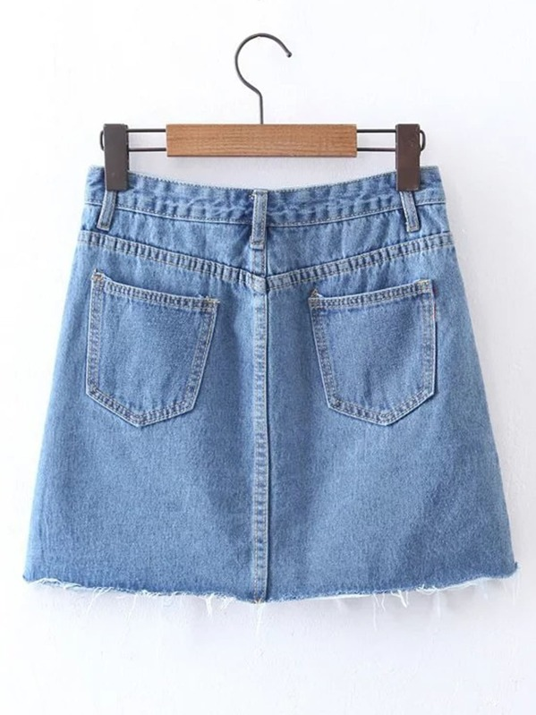 0a17d13017 Cheap Striped Side A Line Denim Skirt for sale Australia | SHEIN