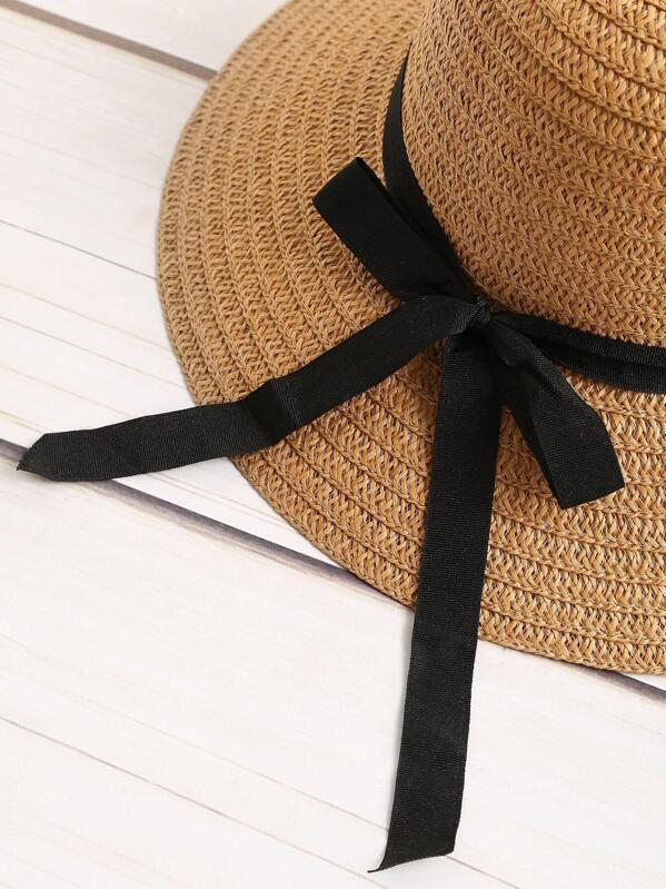 87169d19bd0b8 Cheap Contrast Bow Tie Straw Hat for sale Australia