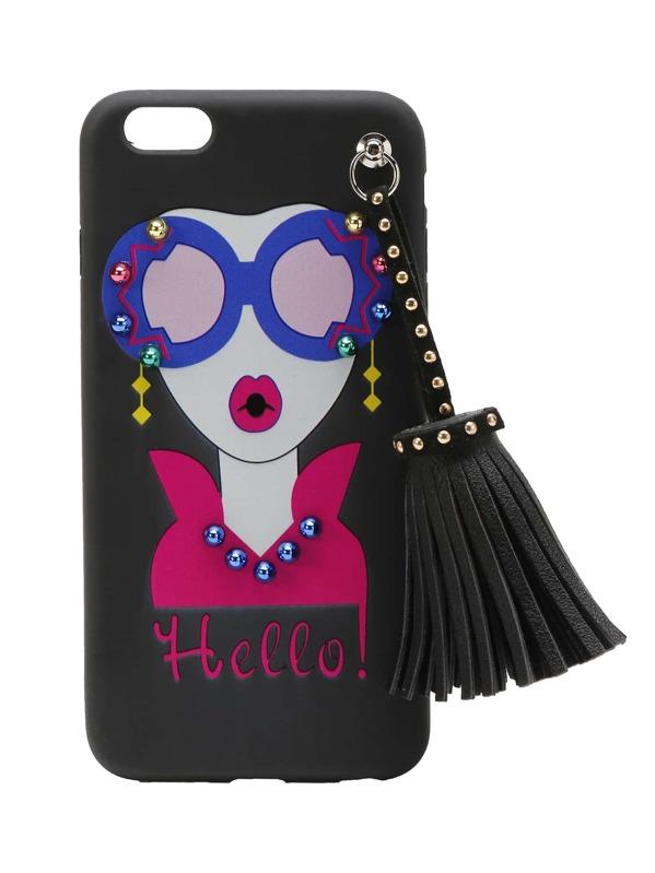 334f5c0920 Girl Print iPhone 6 Plus/6s Plus Case With Tassel | SHEIN