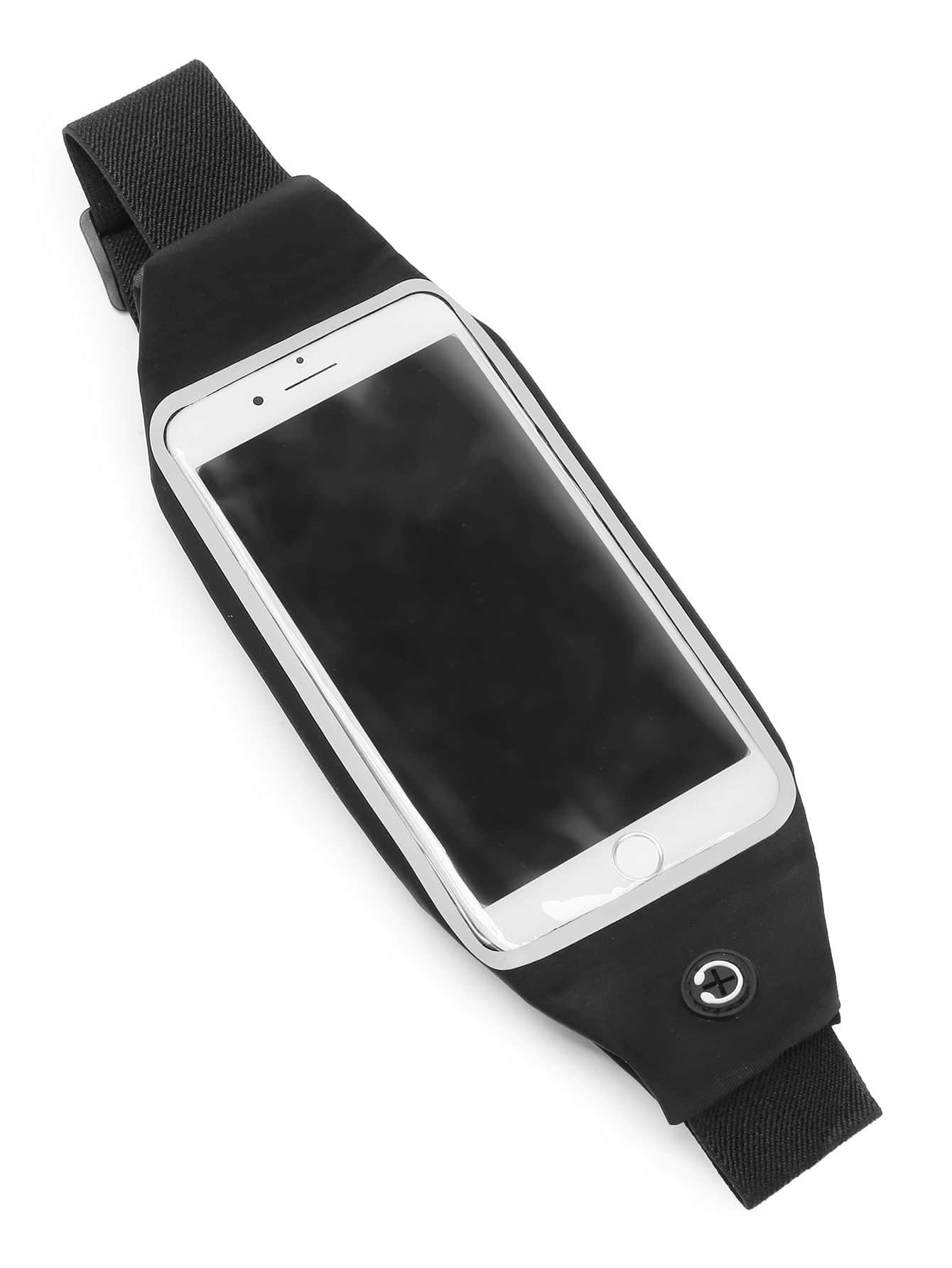 6 pouces de t l phone bumbag avec cran tactile french shein sheinside. Black Bedroom Furniture Sets. Home Design Ideas