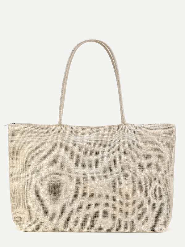 db8075b7a3596 Beach Style Straw Tote Bag | SHEIN UK