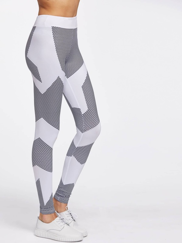 6db313adbff20 Color Block Honeycomb Pattern Gym Leggings | SHEIN