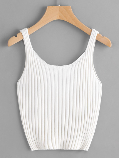 fbe49eda232ba1 Ribbed Knit Crop Tank Top